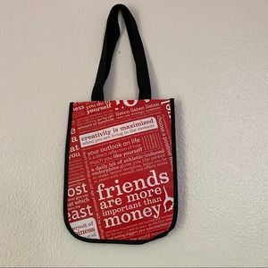 NEW Lululemon Small Tote Red White Manifesto Red